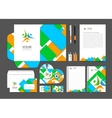 Corporate identity branding template vector image