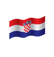 croatia flag vector image