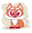 cute bafox cartoon vector image vector image