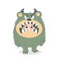 cute kid halloween character in angry cute vector image