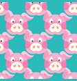 cute piggy art background design for fabric and vector image vector image