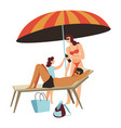 family spending weekends or holidays seaside vector image