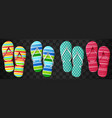 flip flops set isolated design vector image