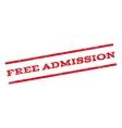 Free Admission Watermark Stamp vector image