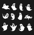 funny and scary halloween ghosts silhouettes set vector image vector image
