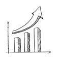 graphic stats draw vector image vector image
