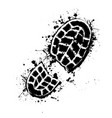 grunge shoes background vector image vector image