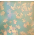 Grunge sky with autumn leaves EPS 10 vector image vector image