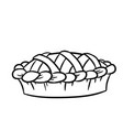 hand drawn doodle pie black and white icon vector image
