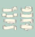 hand drawn sketch set of ribbons icon vector image vector image