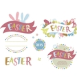 Happy easter - set of elements vector image
