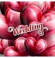 holiday wedding label vector image