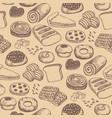 homemade bakery product seamless pattern vector image