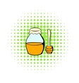 Honey bank and dipper icon comics style vector image vector image