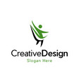 human life agency fit creative business logo vector image vector image