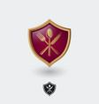icon good restaurant heraldic utensils vector image