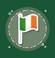 ireland flag icon vector image