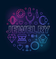 jewelry round colored outline creative vector image vector image