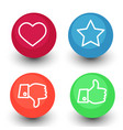 like dislike voting and rating icon set hand with vector image
