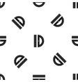 line pattern seamless black vector image