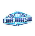 logo for car wash vector image