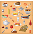 meals and dishes vector image vector image