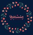 midsummer floral frame jacobean flowers wreath vector image vector image