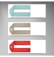 Modern business origami style options banner