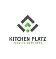 modern food restaurant logo vector image