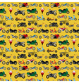Motorcycles background pattern vector image vector image