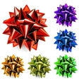 Multicolored bows of ribbon vector image vector image
