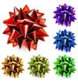 multicolored bows ribbon vector image