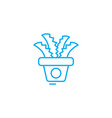 office plants linear icon concept office plants vector image vector image