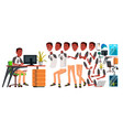 office worker animation creation set vector image
