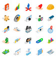 online shopping icons set isometric style vector image vector image