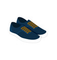 pair of blue casual sneaker shoes fashion style vector image vector image