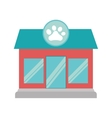 pet shop store building vector image vector image