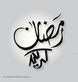 ramadan kareem simple typography on a white vector image vector image