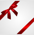 realistic red bow with red ribbons isolated on vector image vector image
