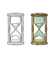 retro hourglass vintage engraving vector image vector image