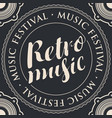 retro music banner with an acoustic loudspeaker vector image vector image