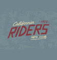 rider or biker club template vintage custom vector image vector image
