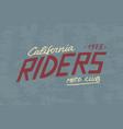 rider or biker club template vintage custom vector image