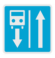 road for route transport icon flat style vector image vector image