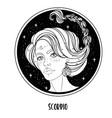 scorpio astrological sign as a vector image