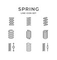 set line icons of spring vector image vector image
