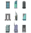 set of Buildings cartoon for you design vector image