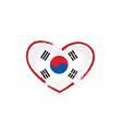 south korean flag on a white vector image