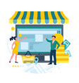 store business online e-commerce concept man and vector image vector image