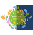 summer solstice vector image vector image